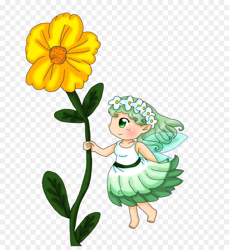 Hada de Dibujo de la Flor de Clip art - las flores de la falda ...