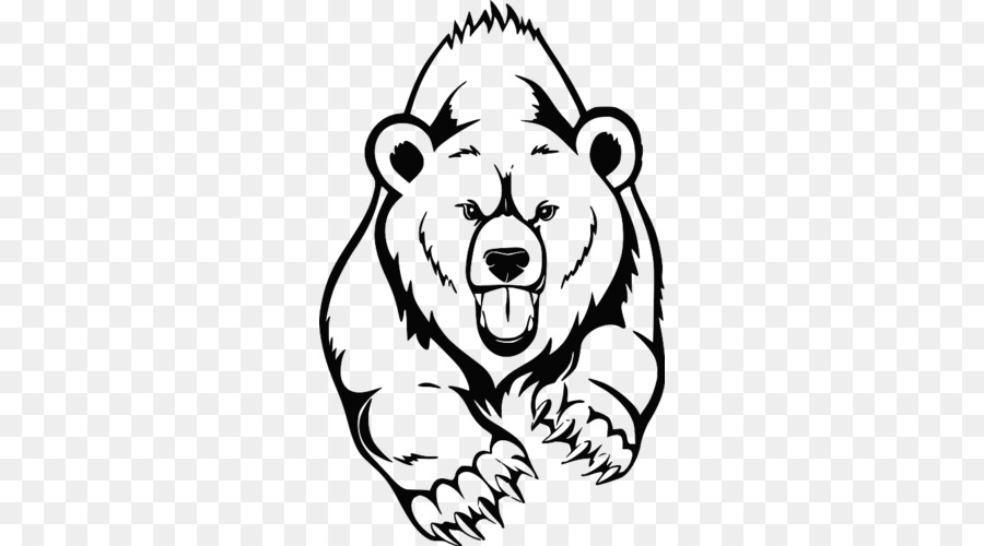 El oso negro americano Dibujo de oso Pardo de la Pintura - oso png ...