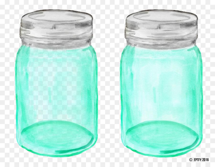 Mason jar teal. Plastic bottle png download