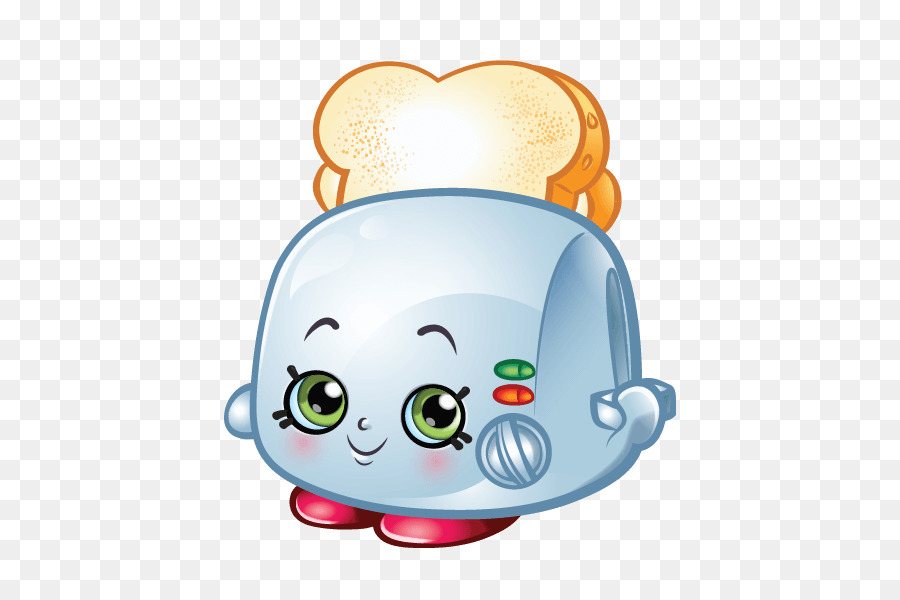 Toast Shopkins Stuffing Cake Bread Avocado Character Png Download