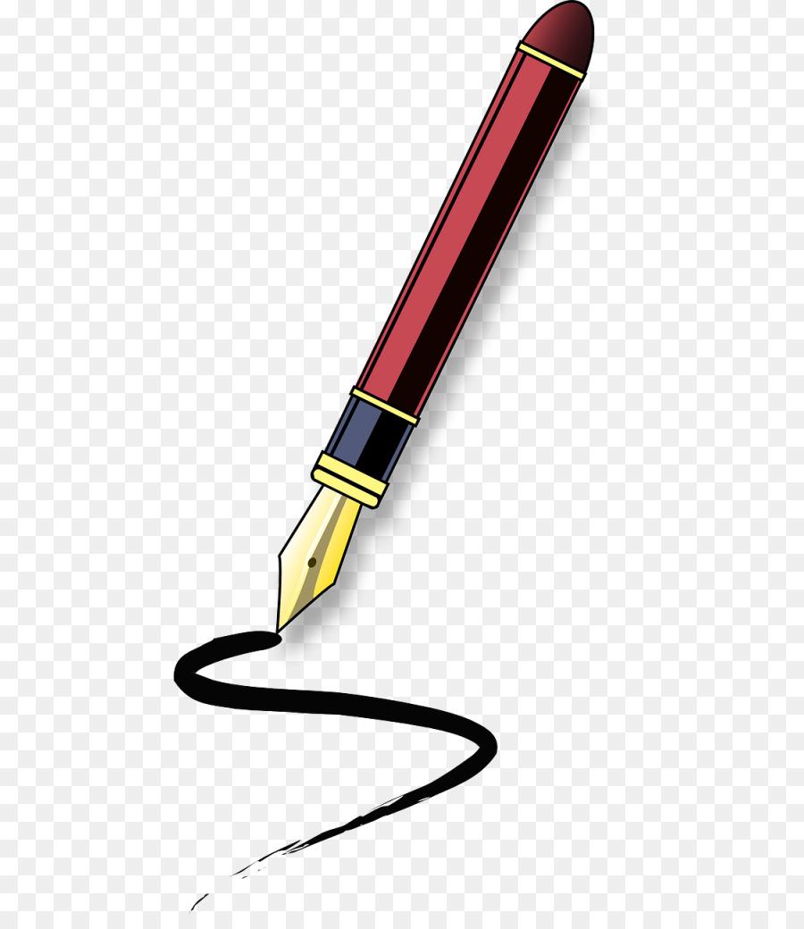 fountain pen paper clip art pen png download 512 1024 free rh kisspng com pen and paper writing clipart pen and paper clipart treaty