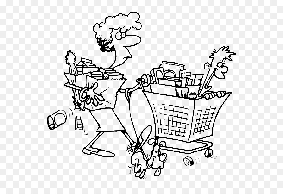 Coloring book Shopping cart Grocery store Clip art - shopping cart ...