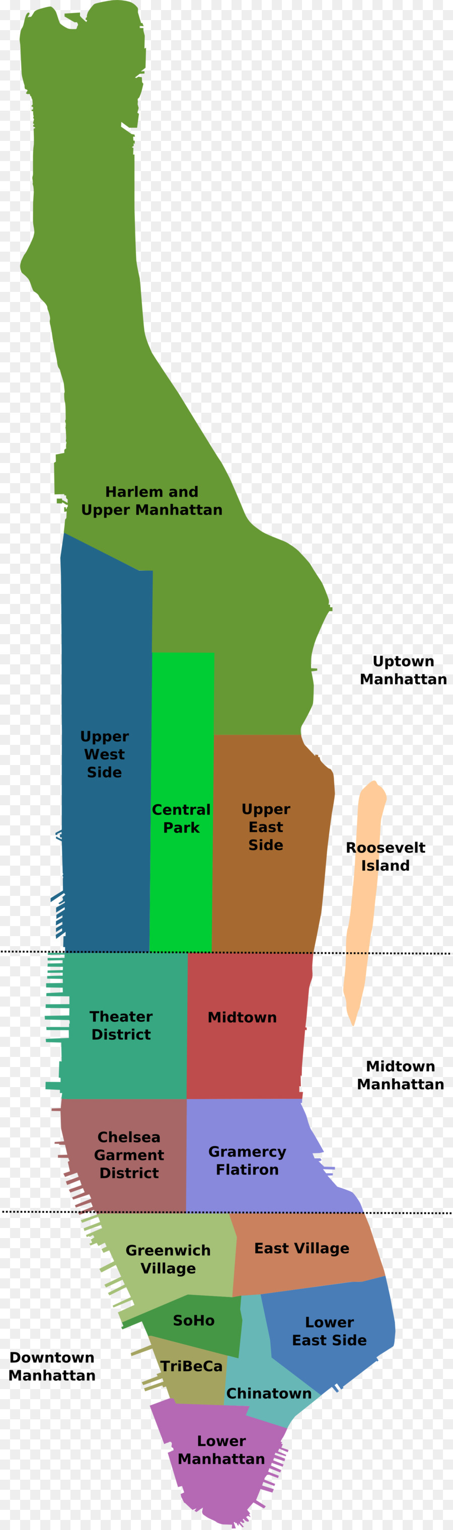 Image Map Manhattan Neighborhood Network District Others Png