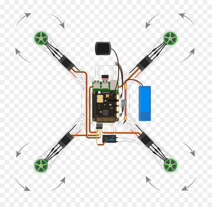 Quadcopter Unmanned aerial vehicle ArduPilot Wiring diagram Joystick -  joystick