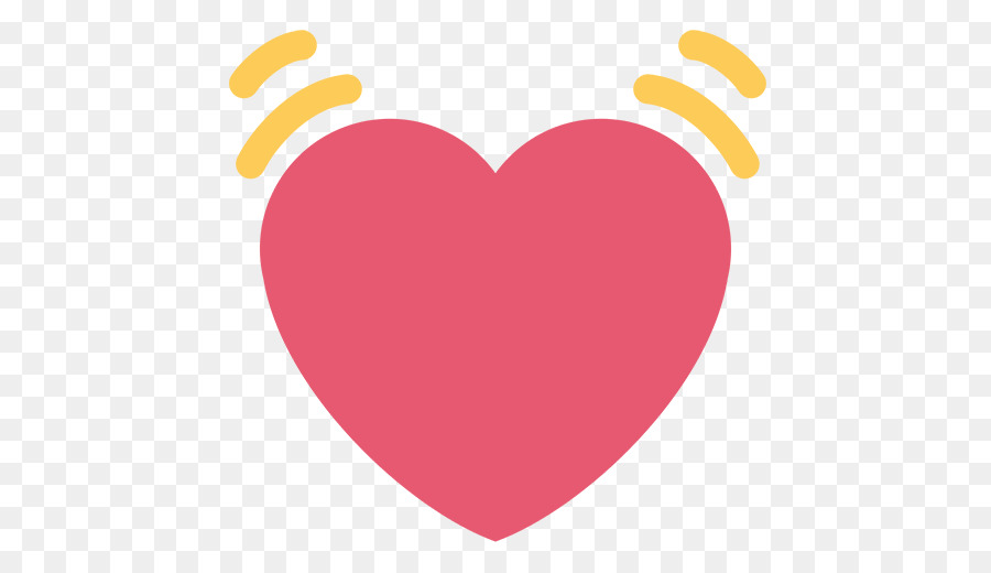 Emoji Heart Emoticon Text Messaging Symbol Heart Beating Png