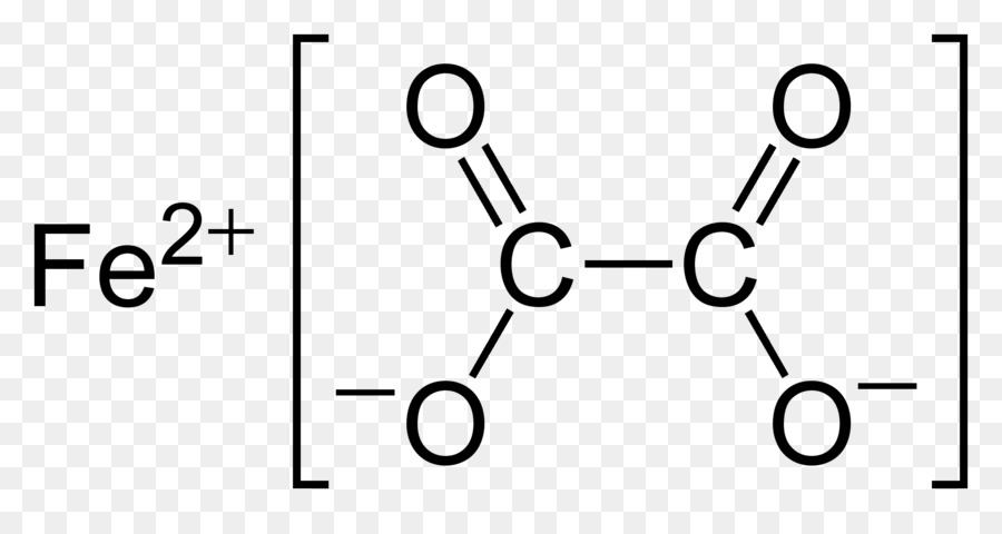 Ironii Oxalate Lewis Structure Ion Dot Formula Png Download