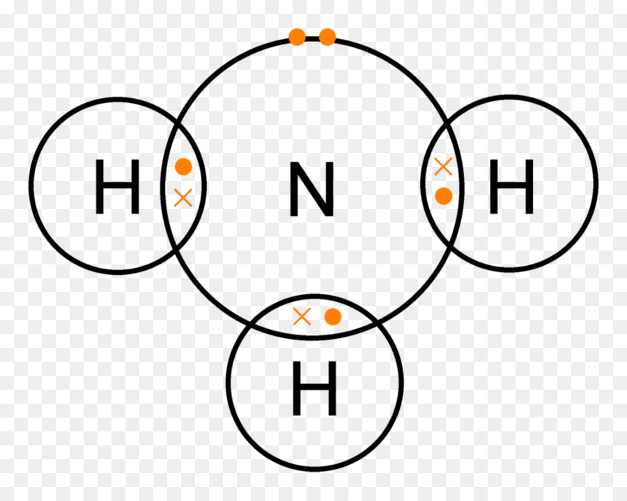Lewis Structure Ammonia Covalent Bond Lone Pair Chemical Bond Dot