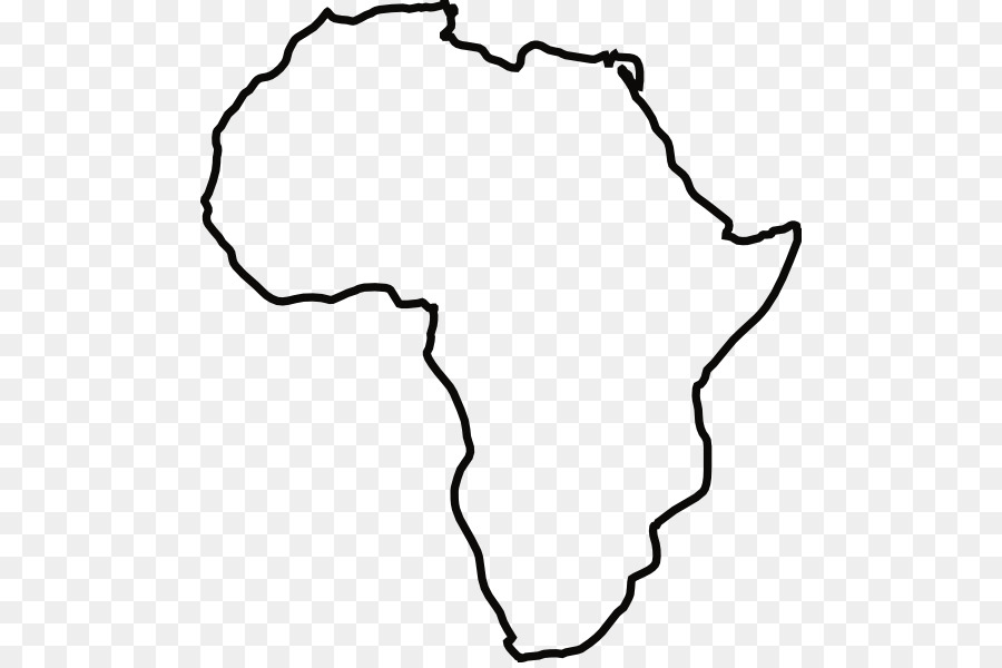 Africa Blank map Drawing Clip art - africa vector png download - 540 ...