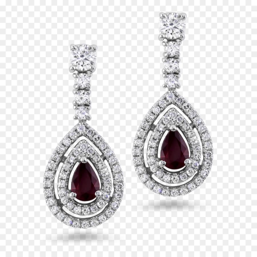 Ruby Earring Jewellery Diamond Gold Stud Earrings