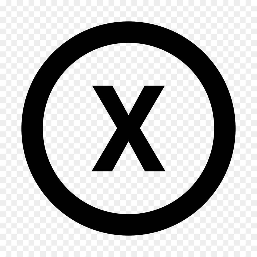 Registered Trademark Symbol Copyright Symbol X Png Download 1600