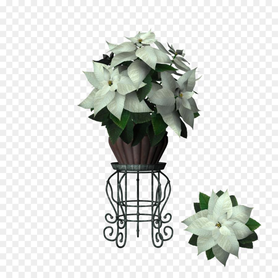 Flowerpot Floral Design Poinsettia Marijuana Leaf Border Png