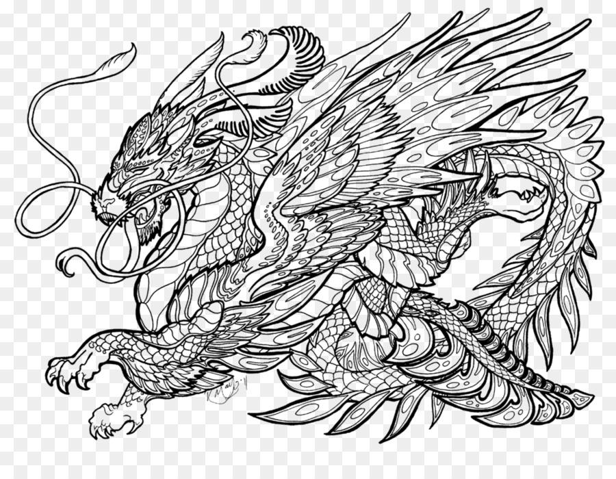 Libro para colorear Dragón de cuento de Hadas Hijo Adulto - dragón ...