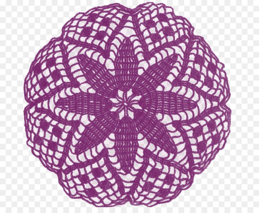Papel Tapete de Encaje de Ganchillo Clip art - púrpura patrón ...