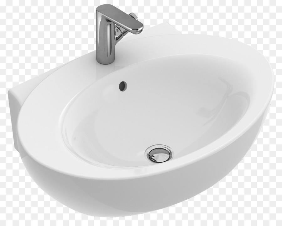 Sink Villeroy & Boch Ceramic Tap Bathroom - Bathroom png download ...