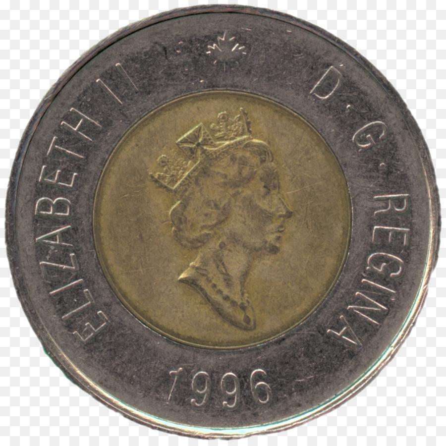 Münze Kanada Loonie Toonie Kanadische Dollar Kreativ Fenster Png