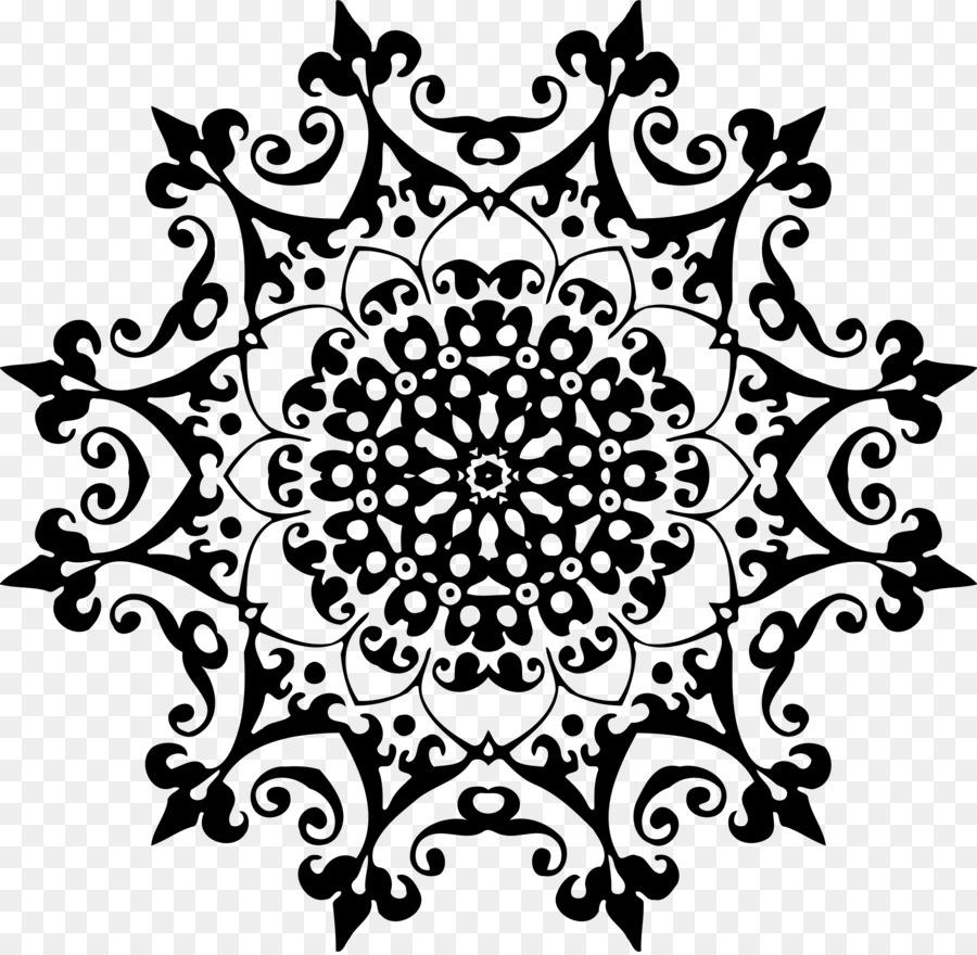 In Bianco E Nero Di Arte Astratta Clip Art Geometriche Ornamento