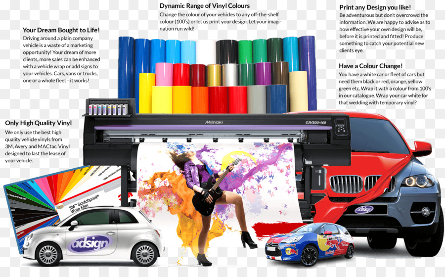 Car Wrap Advertising Graphic Design