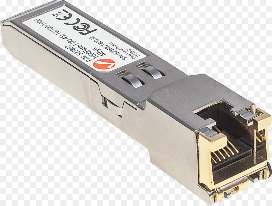 Small form-factor pluggable transceiver RJ-45 Gigabit interface ...