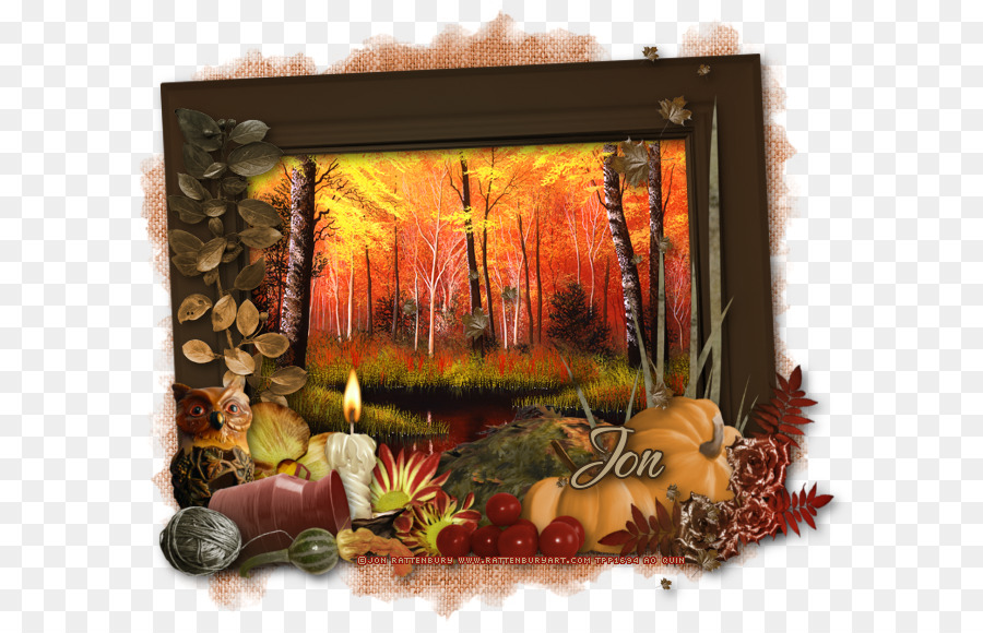 Still life Picture Frames Autumn Thanksgiving - q version of the ...