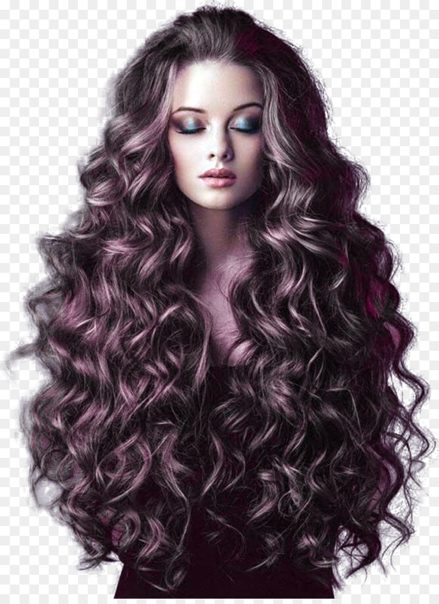 Hairstyle Long Hair Ponytail Fashion Long Curly Hair Png Download