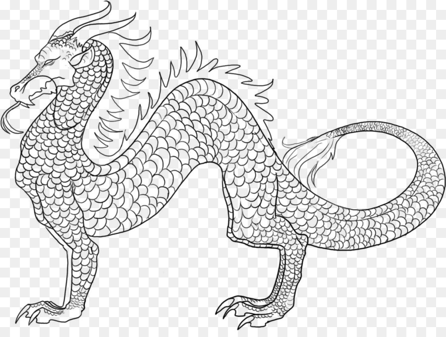Japonés dragon libro para Colorear Dibujo del dragón Chino - dragón ...