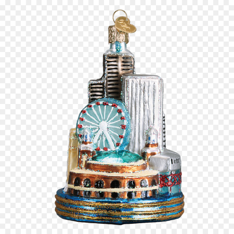 chicago christmas ornament santa claus christmas decoration hand painted leaning tower of pisa - Chicago Christmas Ornament
