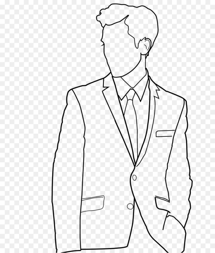 Line art drawing suit artwork shoe png