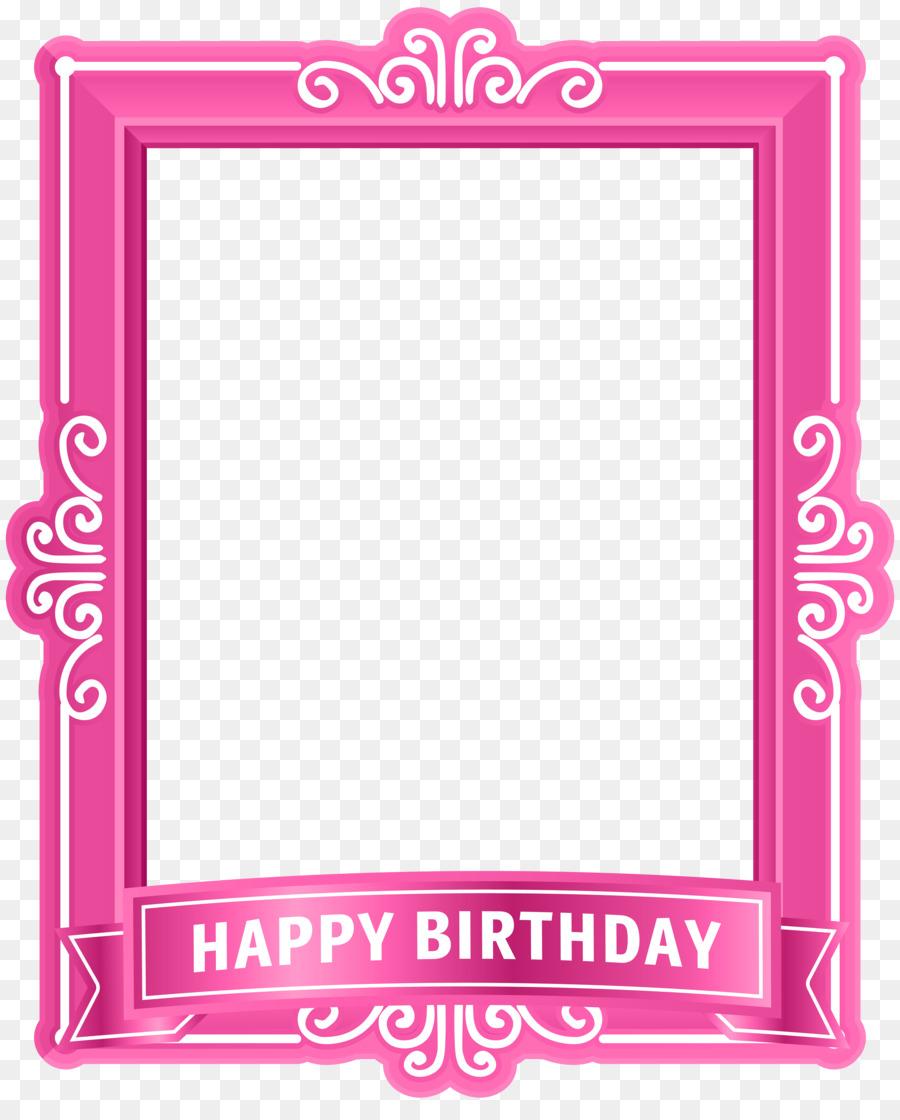 Birthday cake Happy Birthday to You Clip art - pink bottom frame png ...