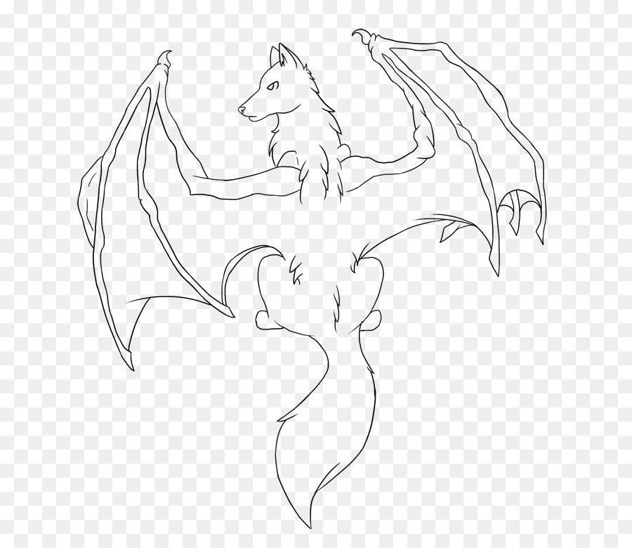 Perro de libro para Colorear de Dibujo de la Línea de arte Bat ...