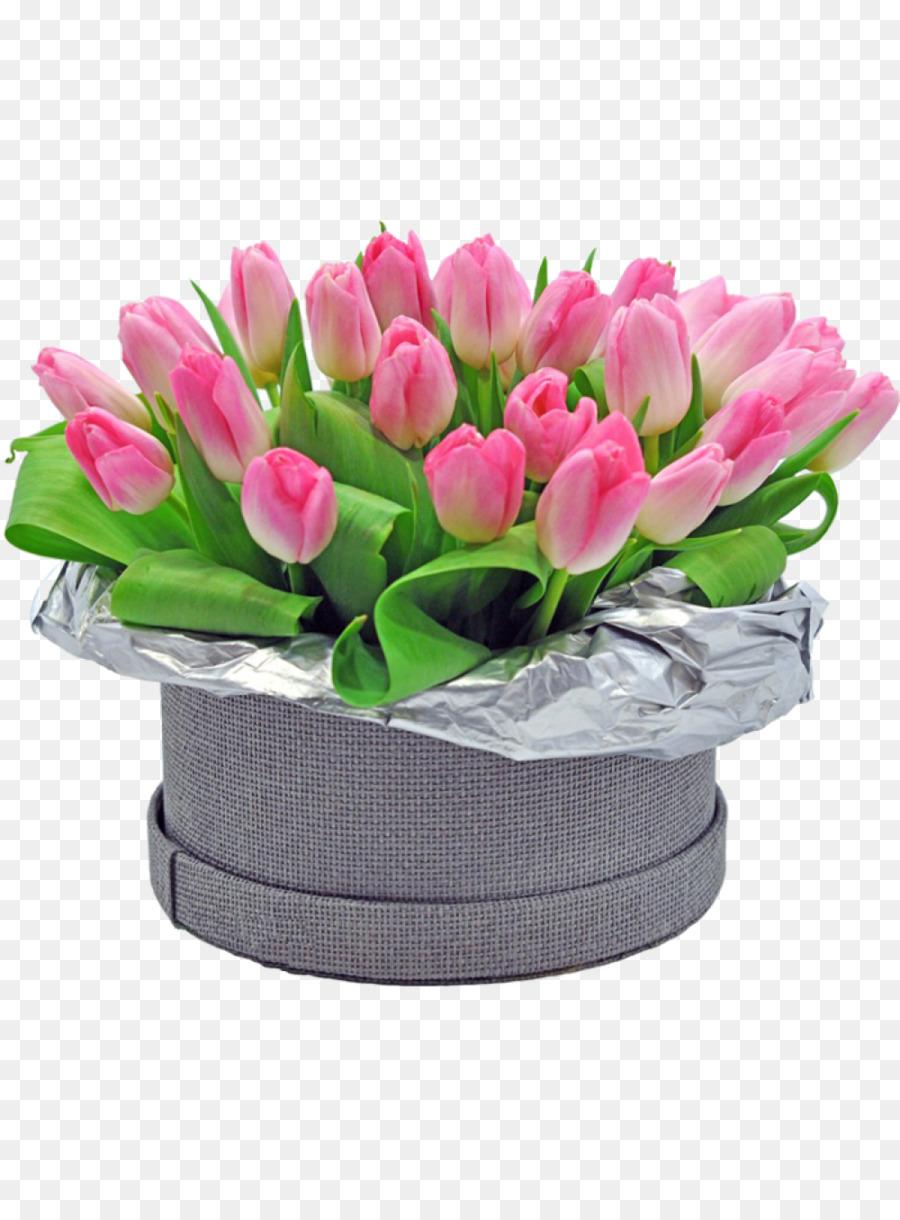 Karangan Bunga Kotak Desain Bunga Tulip Indah Kotak Nasi Unduh