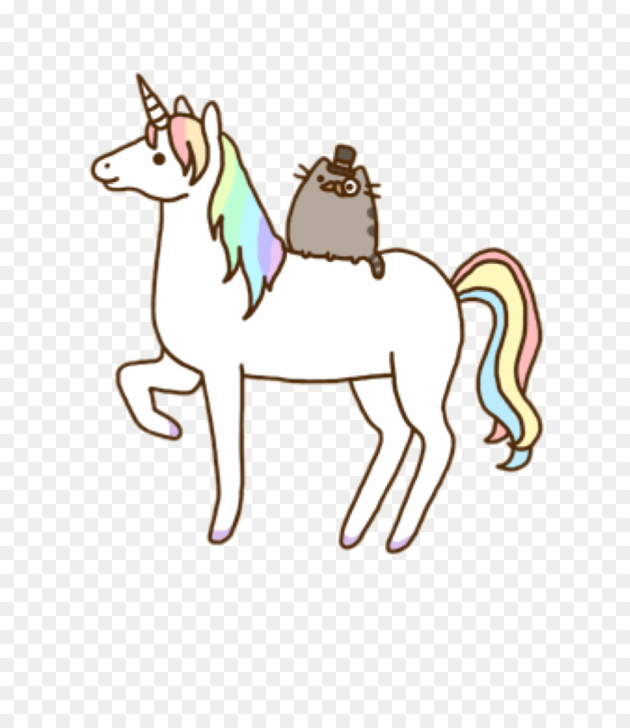 Pusheen, Cat, Unicorn, Pony, Horse Tack PNG