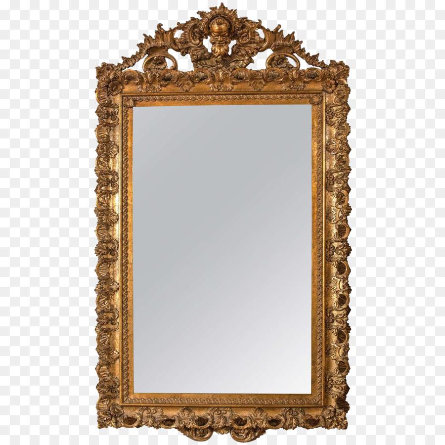 Marcos De Imagen De Espejo Dorado De Oro De La Madera - antiguo ...