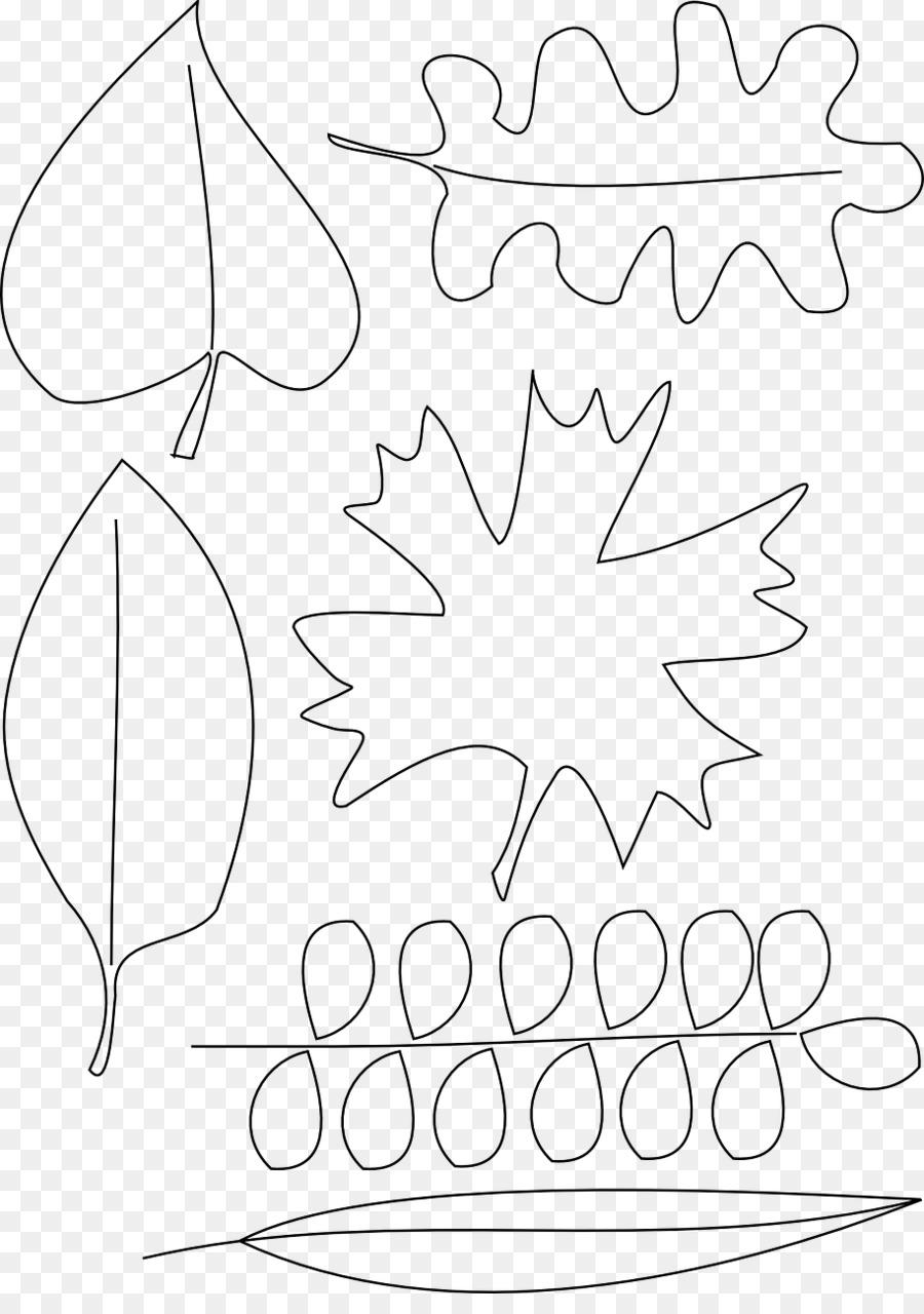 Hoja de otoño de color de libro para Colorear de Dibujo - hojas de ...