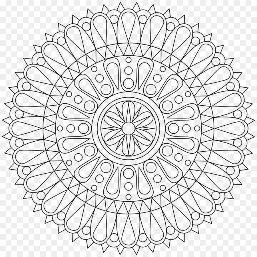 Mandala Kitap Meditasyon çocuk Yetişkin Boyama çocuk Png Indir