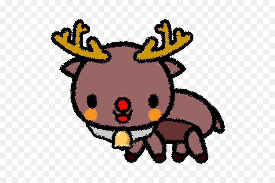 Rentier Weihnachtsmann Weihnachtsclip Art Urlaub Stil Png