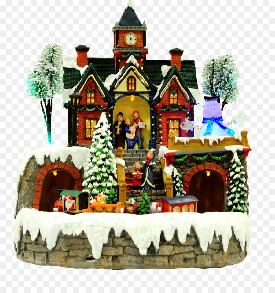 Christmas tree Christmas village Christmas ornament - christmas express train png download - 1000*1052 - Free Transparent Christmas Tree png Download.
