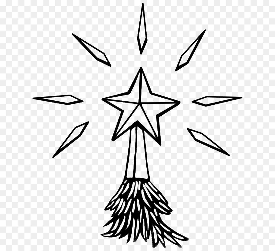 Estrella de Belén y árbol de Navidad para Colorear libro Clip art ...