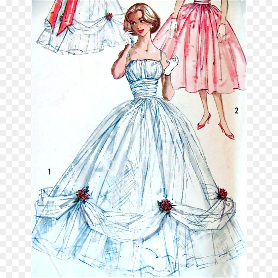 1950s Ball Gown Evening Pattern