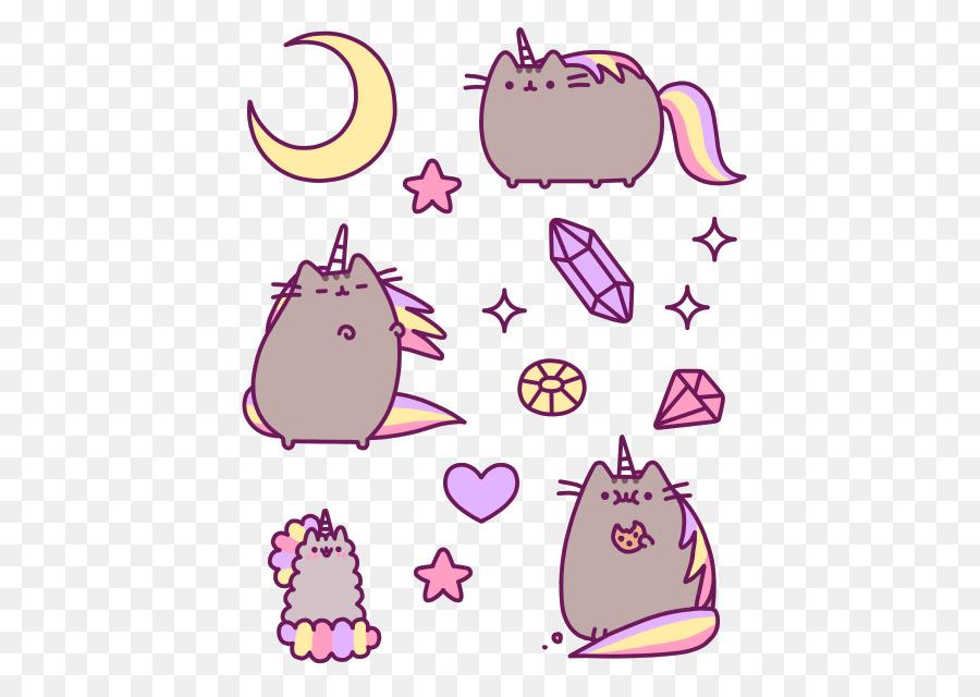 amazing cats pusheen unicorn kitten cat png download 500 640