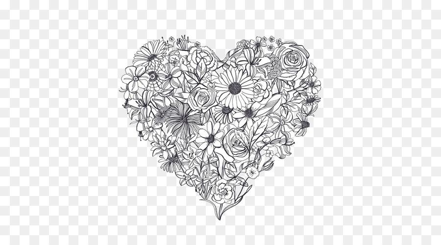Corazón De Dibujo Del Tatuaje De La Flor De La Anatomía - flores ...