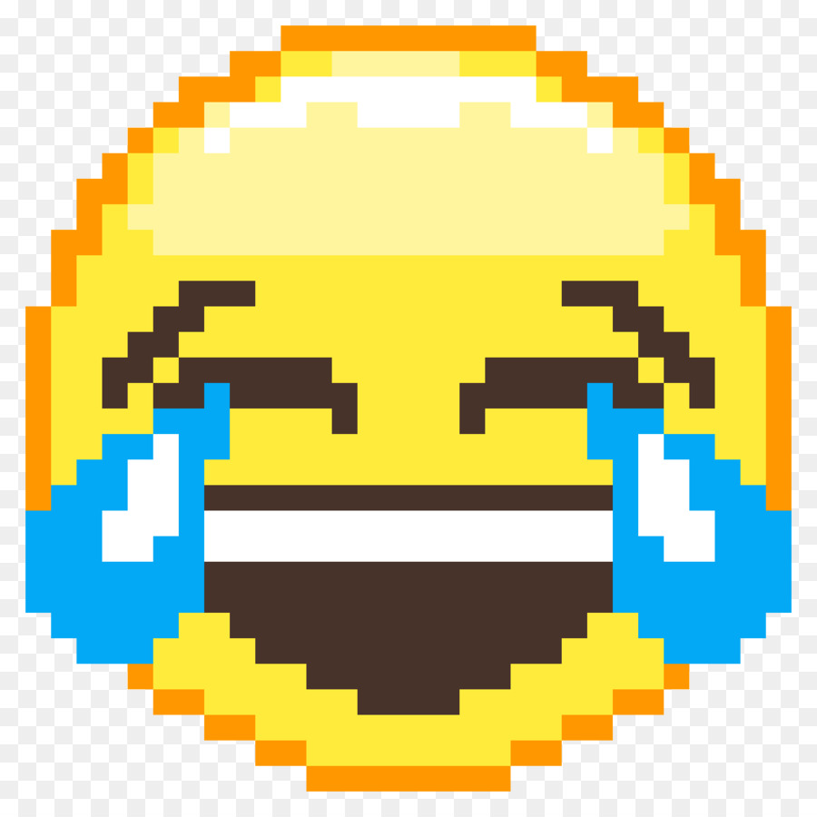 Pixel Art Face With Tears Of Joy Emoji Minecraft