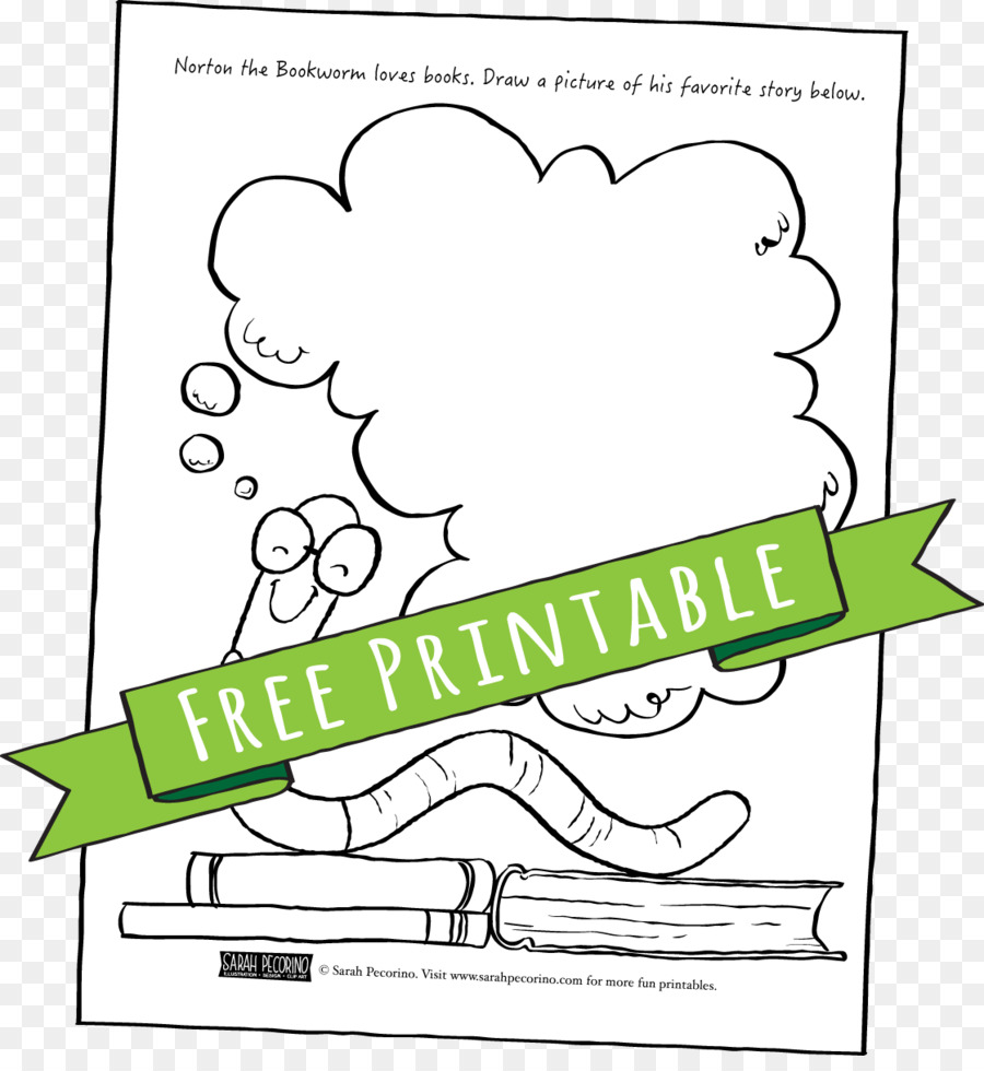 Bookworm Paper Coloring book - bookworm png download - 1120*1202 ...
