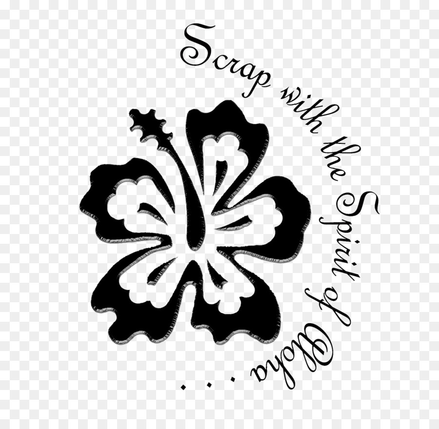 Hibiscus Logo White Font Aloha Summer Png Download 16141554