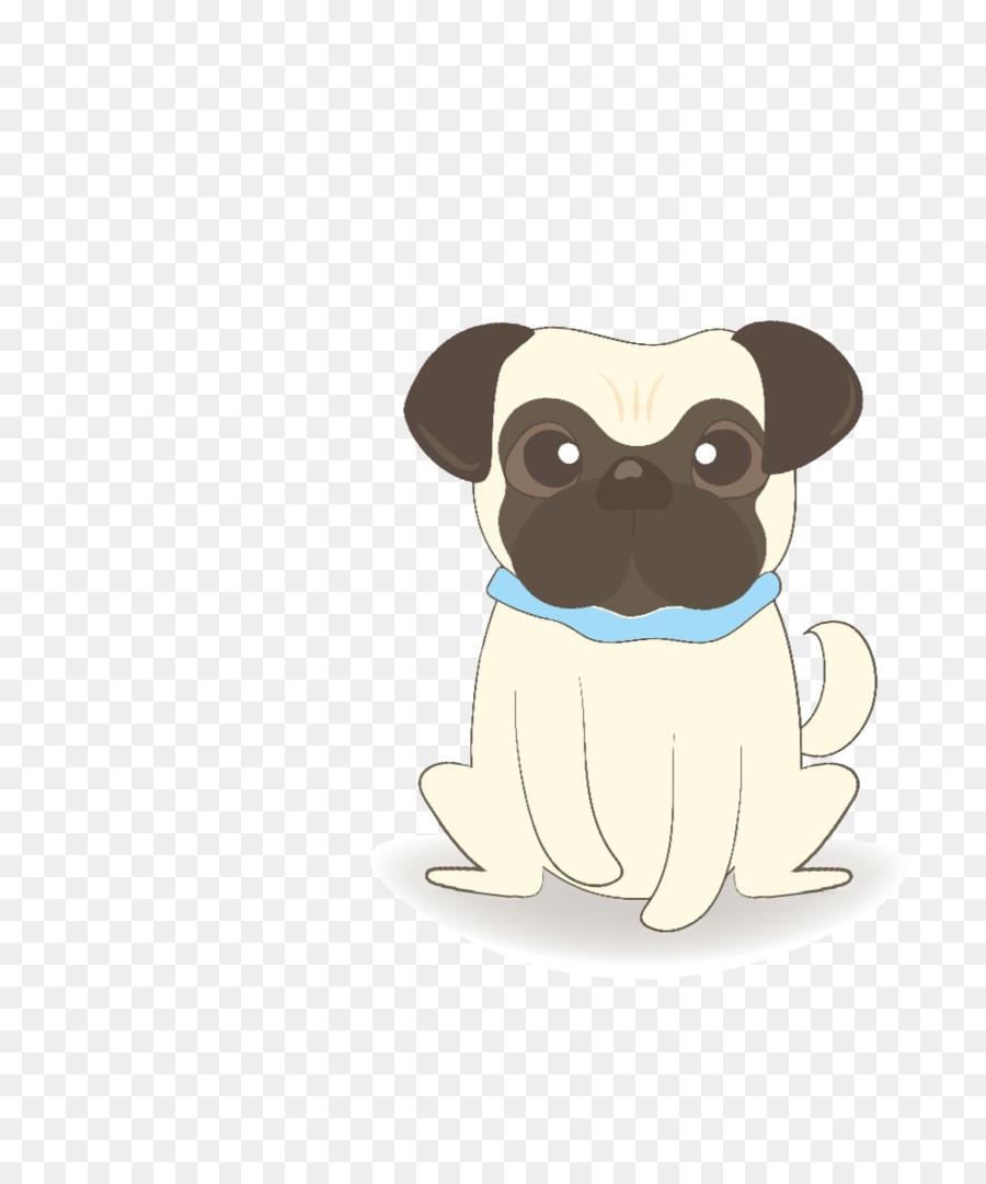 Pug Cachorro de la raza de Perro de dibujos animados - pug png ...