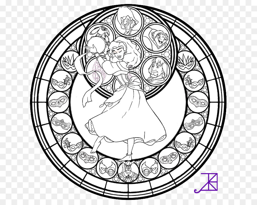 Window Stained glass Coloring book - color halo staining png ...