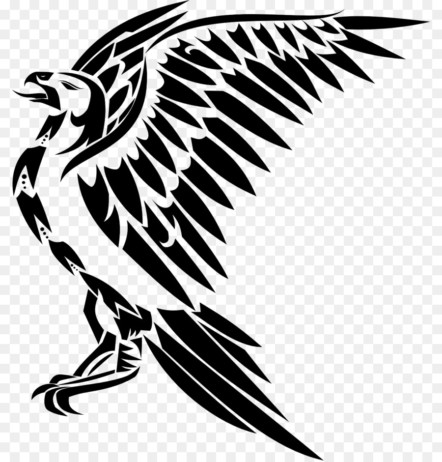 Black and white eagle tattoo art monochrome photography png