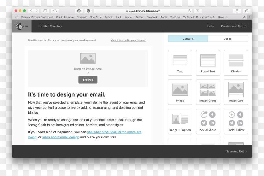 El diseño web responsivo MailChimp Plantilla de correo electrónico ...