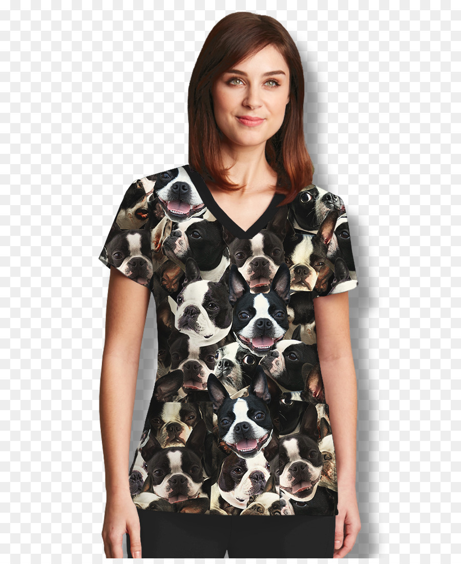 785594c1b6 T-shirt Boston Terrier Sleeve Tube top Scrubs - fabric style pattern png  download - 900 1089 - Free Transparent Tshirt png Download.