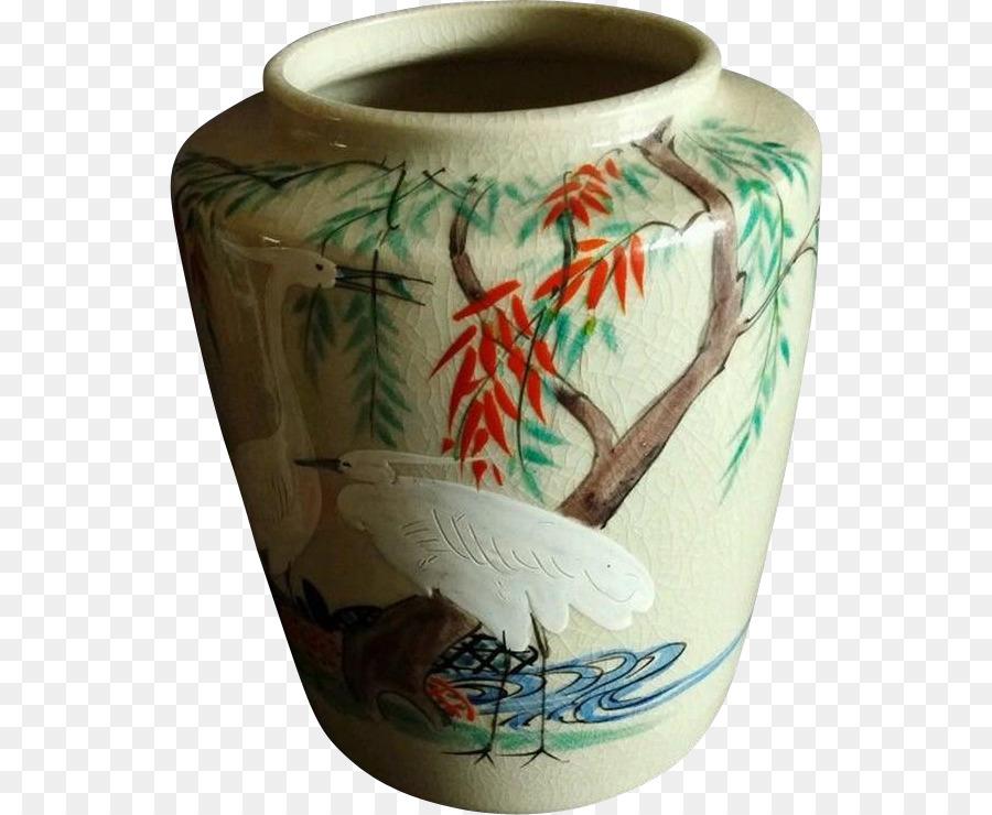 Pottery Ceramic Satsuma Ware Vase Kiyomizu Ware Vase Png Download