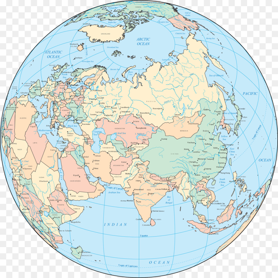 Globe World map Asia - map of asia png download - 1600*1600 - Free ...